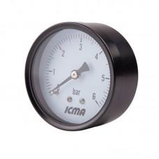 манометр заднего подключ.1/4   0- 6 бар