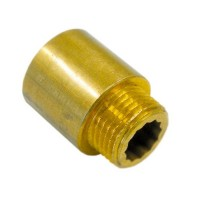 Удлинитель резьбы 1/2 х 80 мм (бронза)