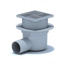 АНИ Трап (TA5602) верт., регулируемый, выпуск 50 мм с нерж. решеткой 10x10 см