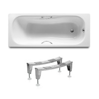 PRINCESS ванна 170*75см прямоугольная, с ручками, с ножками