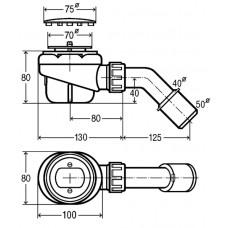 Сифон для душа 75мм Domoplex (364755)