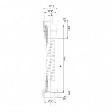 Шланг для душа эластичный, рястягивающийся с двойной оплеткой 1,7-2,1 м