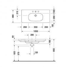 D-CODE умывальник 105*48см, мебельний