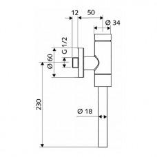 SCHELLOMAT клапан смывной напорный (пол.)