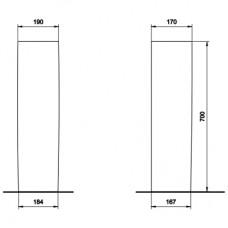 PRIMO пьедестал для комплектации с К81150/ К81155/ К81160/ К81955/ К81965/ К81975 (пол.)