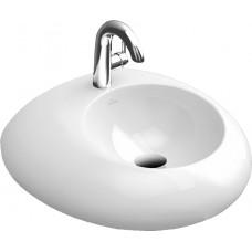 PURE STONE раковина на 1отв, 605*540мм, цвет белый альпин ceramicplus