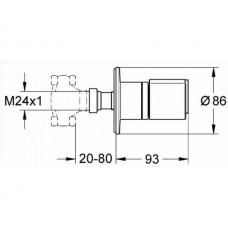 Grohtherm2000 New Накладная панель скрытой вентильной головки