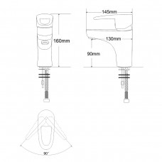 BOSS смеситель для умывальника однорычажный,  хром 40мм