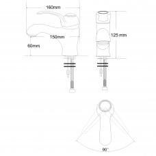FORTUNA смеситель для умывальника однорычажный, хром 40мм