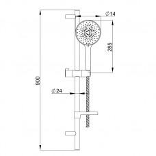 Душевой набор Imprese NETKA L-90см