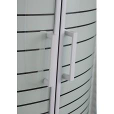 TISZA (AMUR) душевая кабина 90*90*200 см, на мелком поддоне, профиль белый, стекло