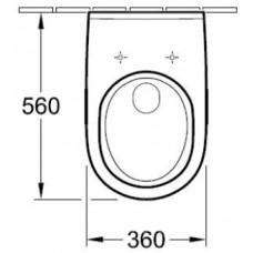 O.NOVO (комплект ) унитаз подвесной 36*56см 56601001 +сидение на унитаз с функцией soft closing 9М38S101