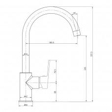 Смеситель для кухни LESNA хром, 35мм