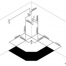 Душевой бокс VOLLE LANVIN  пятиугольный 1000*1000*2150мм,пятиугольный