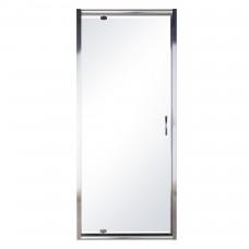 Дверь в нишу распашная 90*185 хром прозрачная