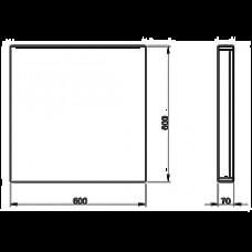 Зеркало KOLO TWINS 60*60*7 см, белый глянец