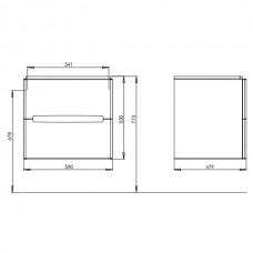 MODO шкафчик под умывальник 60*65*48 см белый глянец/венге (пол.)