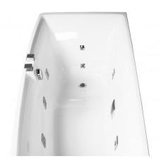 Ванна асимметричная гидромассажная 1700*750*630мм, левая, акриловая