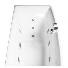 Ванна асимметричная гидромассажная 1700*750*630мм, правая, акриловая
