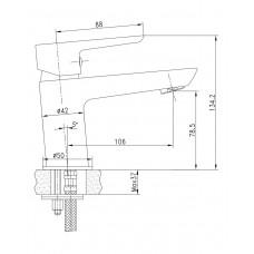Смеситель для раковины BRECLAV хром, 35 мм