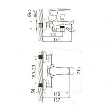 NEMO Смеситель для ванны, хром, 35 мм