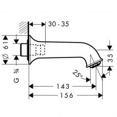 Talis Classic Излив для ванны (цв gold optic)