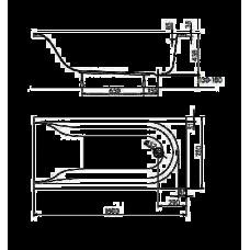 Ванна акриловая KOLO MIRRA  160*75 см