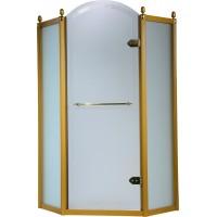 Душевая кабина VOLLE GRAND TENERIFE Gold 1000*1000*2000мм, пятиугольная