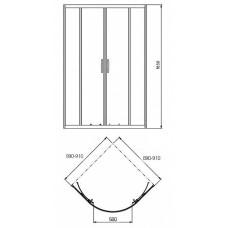 Душевая кабина KOLO REKORD 90*90 см,полукруглая