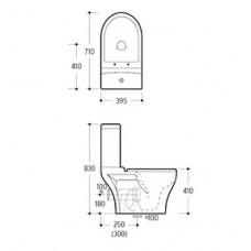 TISA компакт в комплекте напольный гор. выпуск, нижний подвод, бачек 3/6л., сиденье твердое slow-closing
