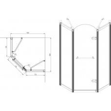 Душевая кабина VOLLE GRAND TENERIFE Combi 1000*1000*2000мм,  пятиугольная