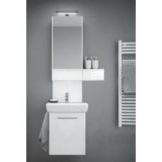 NOVA PRO шкафчик с зеркалом 80cm, правый, белый глянец (пол)