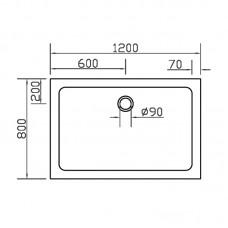 Поддондля душевой кабины EGER SMC 800*1200*35 прямоугольный
