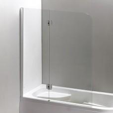 Шторка на ванну 120*150 см, левая, цвет профиля хром