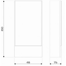 NOVA PRO шкафчик 49,3*85*17,6см, с зеркалом, белый глянец (пол)