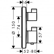 Ecostat S Термостат с запорным/переключающим вентилем