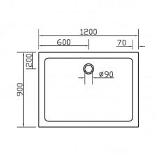 Поддон для душевой кабины EGER SMC 900*1200*35мм, прямоугольный
