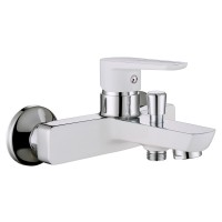 BRECLAV cмеситель для ванны, хром/белый, 35 мм
