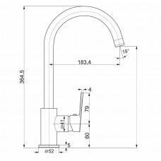 Смеситель для кухни LASKA сатин, 35мм