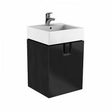 TWINS шкафчик под умывальник 60 см с одним ящиком, черный матовый