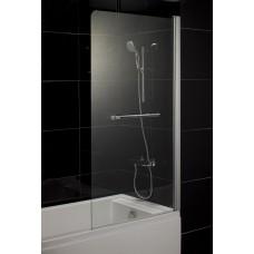 Штора на ванну 80*150, стекло прозрачное, правая