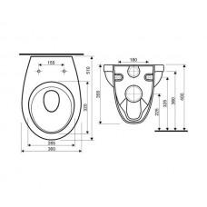 IDOL подвесной унитаз в комплекте с полипропиленовым сиденьем