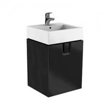 TWINS шкафчик под умывальник 50 см с одним ящиком, черный матовый