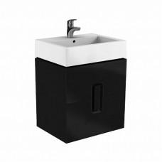 TWINS шкафчик под умывальник 60 см с двумя ящиками, черный матовый