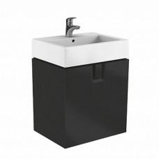 TWINS шкафчик под умывальник 60 см с дверцей, черный матовый