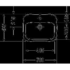 DURASTYLE умывальник 56*45,5см, встраиваемый, с переливом, с 1м отв. под смеситель