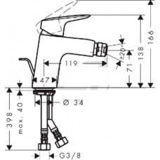 MyCube Смеситель для биде однорычажный, хром