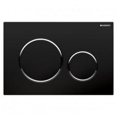 SIGMA 20 cмывная клавиша, двойной смыв, черный/хром глянцевый/черный