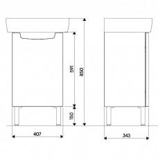 REKORD шкафчик под умывальник 40*59,1*32,5 см, белый глянец (пол)