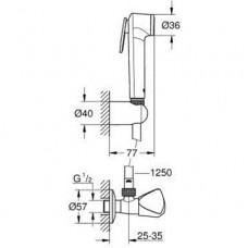 Tempesta-F Trigger Spray 30 Душевой набор с угловым вентилем, 1 вид струи, хром